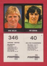 Bolton Wanderers Mike Walsh & Oxford United Roy Burton